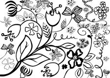 Hand drawn floral background Royalty Free Stock Photos