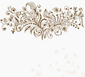 Hand Drawn floral background Stock Image