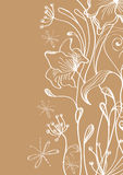 Hand Drawn floral background Royalty Free Stock Image