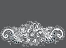 Hand drawn floral background Royalty Free Stock Photography