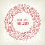 Hand drawn floral background. Background made of hand drawn floral elements, vector illustration Stock Photography