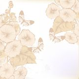 Hand drawn floral background in pastel color Royalty Free Stock Image