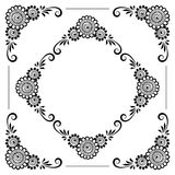 Hand drawn floral background Royalty Free Stock Photo