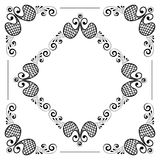 Hand drawn floral background Stock Images