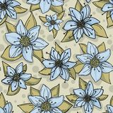 Hand drawn floral background with ribbons Royalty Free Stock Images