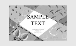 Hand drawn floral background. Vector black and white textured cards. Beautiful abstract poster. Hand drawn floral background. Vector black and white textured royalty free illustration