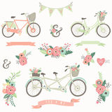 Hand Drawn Floral Bike Royalty Free Stock Photography