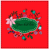 Hand drawn floral design variations for cards, posters, invitations. Stock Images