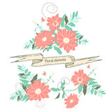 Hand drawn floral elements Royalty Free Stock Images