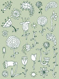 Hand drawn floral elements, set 2 Royalty Free Stock Images