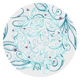 Hand drawn floral design illustration with curly lines and swirls  3. Hand drawn floral feast design, made from original illustration with curly lines and swirls Royalty Free Stock Image
