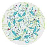 Hand drawn floral design illustration with curly lines and swirls  4. Hand drawn floral feast design, made from original illustration with curly lines and swirls Stock Photography