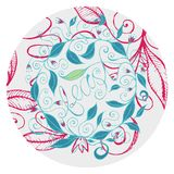 Hand drawn floral design illustration with curly lines and swirls  5. Hand drawn floral feast design, made from original illustration with curly lines and swirls Stock Image