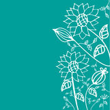 Hand drawn floral. Flowers and Foliage Vector Illustration Design Elements Royalty Free Stock Photos