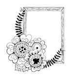 Hand drawn floral frame Royalty Free Stock Photo