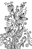 Hand drawn floral illustration Royalty Free Stock Photos