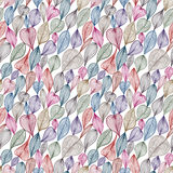Hand drawn floral lines seamless pattern. Stock Photos