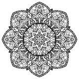 Hand-drawn floral mandala. Royalty Free Stock Photography