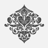 Hand drawn floral ornament. A hand drawn floral ornament Royalty Free Stock Photography