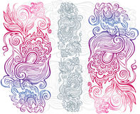 Hand drawn floral ornament Stock Image