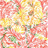 Hand drawn floral ornament Stock Images