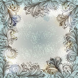 Hand drawn floral ornamented frame Stock Image