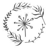 Hand drawn floral ornaments. Stock Images