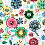 Hand-drawn floral pattern Royalty Free Stock Photos