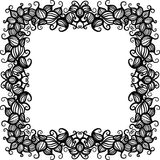 Hand drawn floral pattern frame. Vector hand drawn floral pattern frame Royalty Free Stock Photography