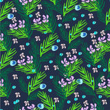 Hand drawn  floral pattern. Stock Photography