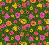 Hand drawn floral pattern Stock Photo