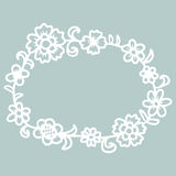 Hand drawn floral round frame. Royalty Free Stock Photos