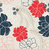 Hand drawn floral seamless background pattern Romantic flowers Stock Photography