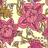 Hand drawn floral seamless background Royalty Free Stock Photos