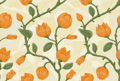 Hand drawn floral seamless pattern Royalty Free Stock Images