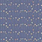 Hand drawn floral seamless pattern background dark.  Royalty Free Stock Photos