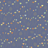 Hand drawn floral seamless pattern background dark. Vector Stock Images