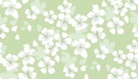 Hand drawn floral seamless pattern. Royalty Free Stock Image