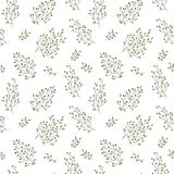 Hand drawn floral seamless pattern Stock Photos