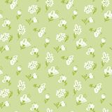 Hand drawn floral seamless pattern. Royalty Free Stock Photos