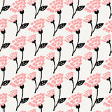 Hand Drawn Floral Seamless Pattern stock illustration