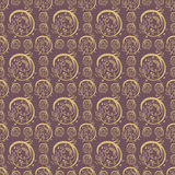 Hand Drawn Floral Seamless Pattern. Floral seamless pattern from hand drawn sketches. Can be used for wallpapers. Optimized for easy color changes. EPS8 vector Stock Photos
