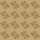 Hand Drawn Floral Seamless Pattern Stock Images