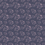 Hand Drawn Floral Seamless Pattern Stock Photography
