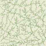 Hand Drawn Floral Seamless Pattern. Floral seamless pattern from hand drawn sketches. Can be used for wallpapers. Optimized for easy color changes. EPS8 vector Stock Photo