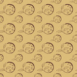 Hand Drawn Floral Seamless Pattern. Floral seamless pattern from hand drawn sketches. Can be used for wallpapers. Optimized for easy color changes. EPS8 vector Royalty Free Stock Images