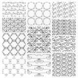 Hand Drawn Floral Seamless Patterns Stock Images