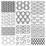 Hand Drawn Floral Seamless Patterns Stock Photos