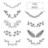 Hand drawn floral set royalty free illustration