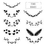 Hand drawn floral set Royalty Free Stock Images